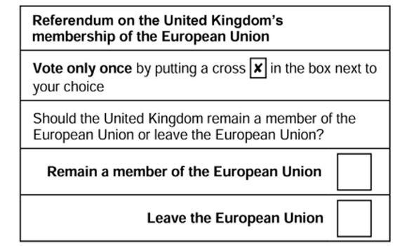 Brexit Referendum ballot